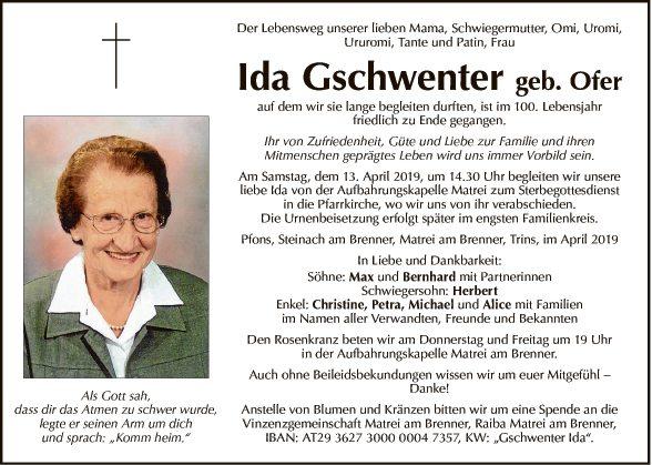 Ida Gschwenter