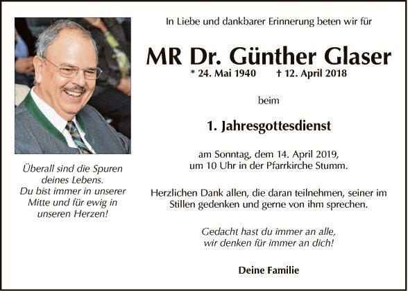 MR Dr. Günther Glaser