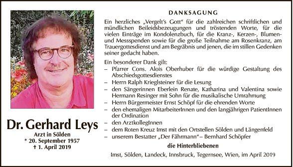 Dr. Gerhard Leys