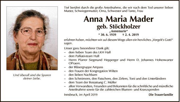 Anna Maria Mader