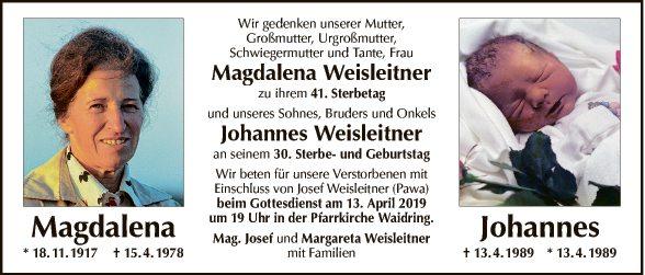 Magdalena und Johannes Weisleitner