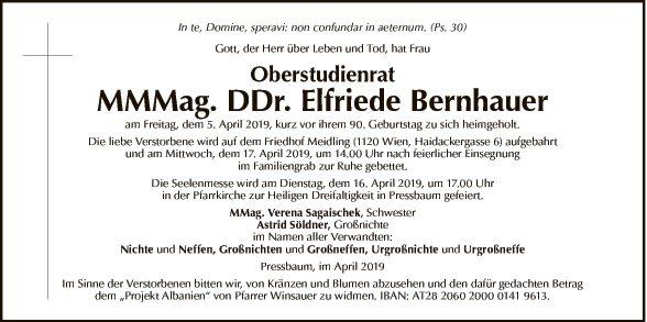 MMMag. DDr. Elfriede Bernhauer
