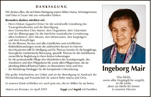 Ingeborg Mair