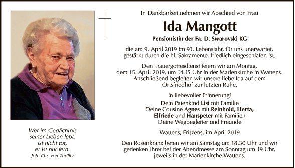 Ida Mangott