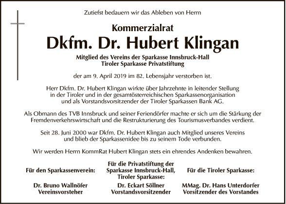 KommR. Dkfm. Dr. Hubert Klingan