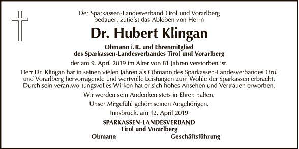Dr. Hubert Klingan