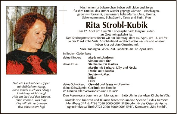 Rita Strobl-Kubik