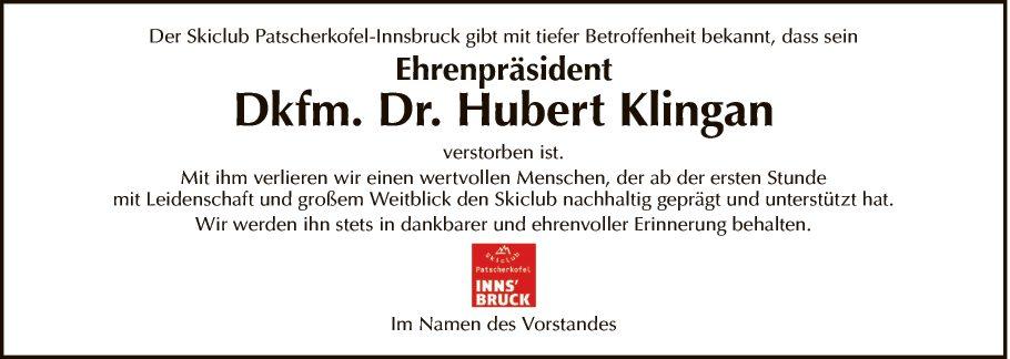 Dkfm. Dr. Hubert Klingan