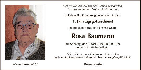 Rosa Baumann