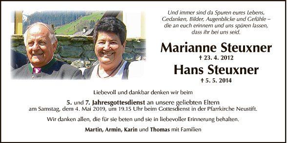 Marianne und Hans Steuxner