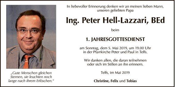 Ing. Peter Hell-Lazzari