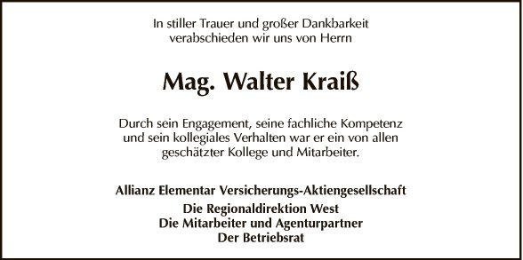 Walter Kraiß
