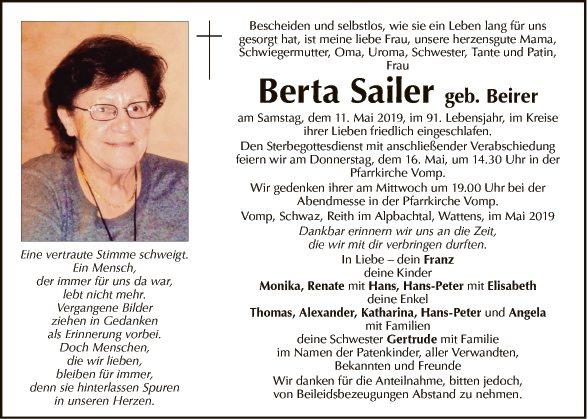 Berta Sailer