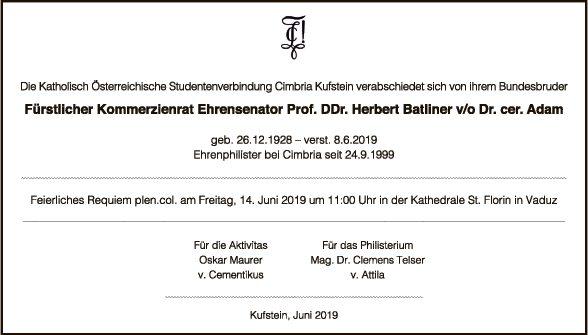 Prof. DDr. Herbert Batliner