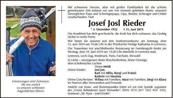 Josef Rieder Bild