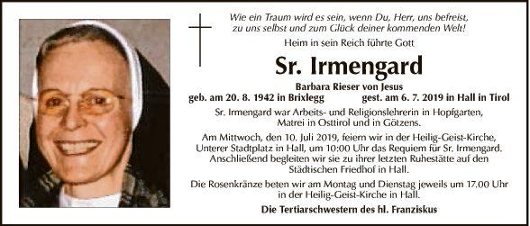 Sr. Irmgard Barbara Rieser