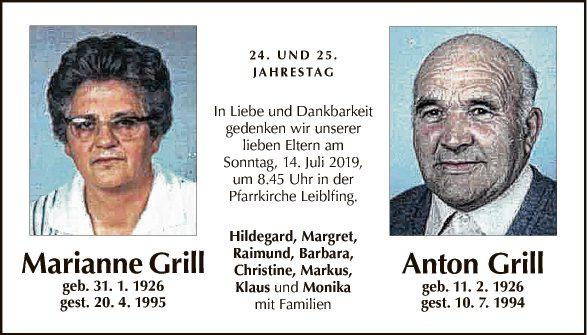 Marianne und Anton Grill