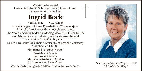 Ingrid Bock