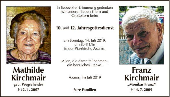Mathilde und Franz Kirchmair
